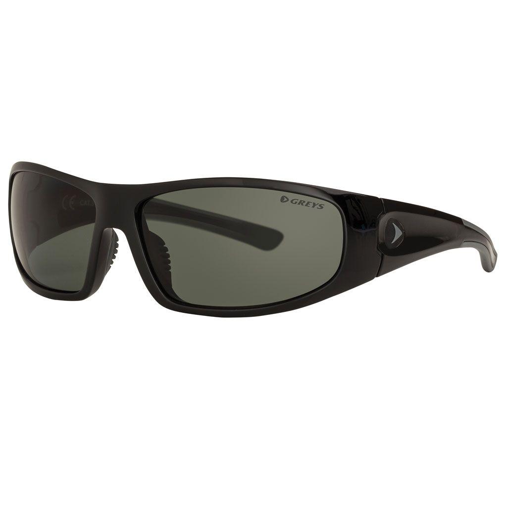 cb1efa0aea Greys G1 Polarised Sunglasses Gloss Black Frame Green Grey Lens